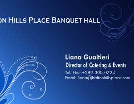 nº 26 pour Design a logo and Business Cards for Halton Hill Banquet and Convention Centre par mustafebond