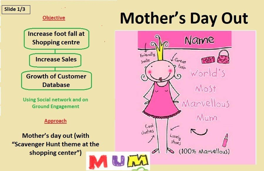 #59 for Mothers Day Promotional idea by vivekgoyal80