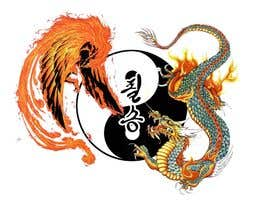 #7 untuk I need some Graphic Design for a Dragon & a Phoenix wrapping the outside of a Yin-Yang pattern and the Korean characters for Victory in the middle oleh ianlleva