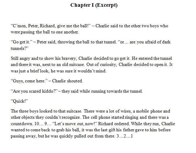 Inscrição nº 3 do Concurso para Write an eBook for Mysterious short story
