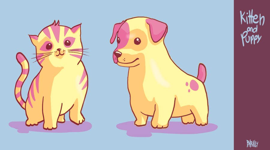 Proposition n°9 du concours Concept art for a virtual pet game: kitten and puppy