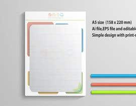 Nro 31 kilpailuun Design a A5 Memo, Notepad käyttäjältä hsheik