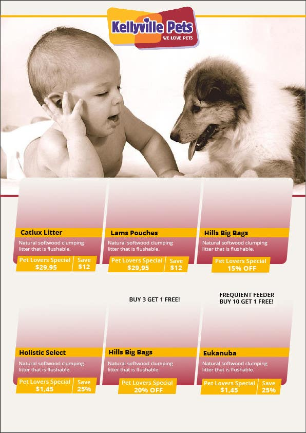 Konkurrenceindlæg #13 for Design a Newsletter/Catalogue For Pet Store
