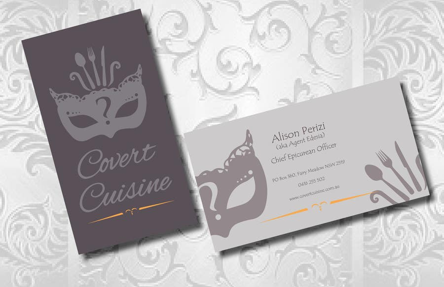 Kilpailutyö #38 kilpailussa Design some Business Cards for Covert Cuisine