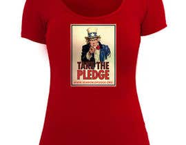 #8 para Design a Take The Pledge T-shirt (Uncle Sam) por charlieplanas