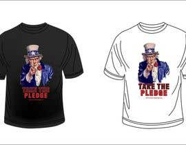 nº 2 pour Design a Take The Pledge T-shirt (Uncle Sam) par luledesign