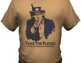 nº 6 pour Design a Take The Pledge T-shirt (Uncle Sam) par bacujkov
