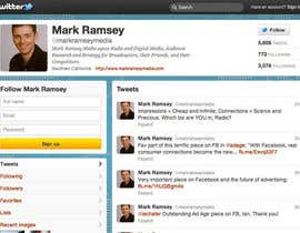 #34 para Twitter Background for Mark Ramsey Media por wademd