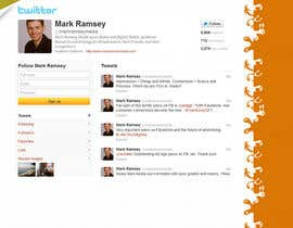 #41 para Twitter Background for Mark Ramsey Media por sureshv120