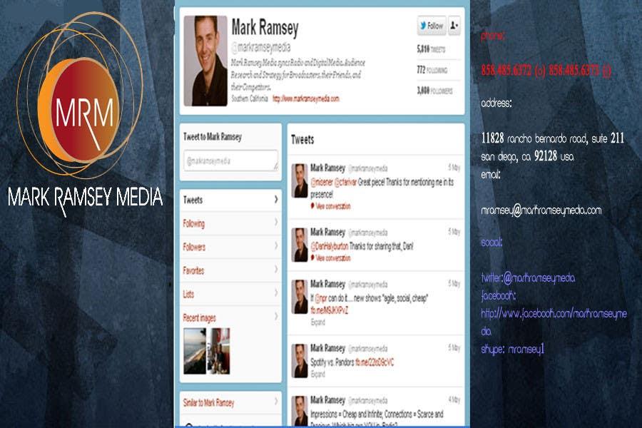 Inscrição nº 37 do Concurso para Twitter Background for Mark Ramsey Media