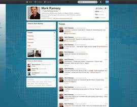 #36 for Twitter Background for Mark Ramsey Media by ardakar1