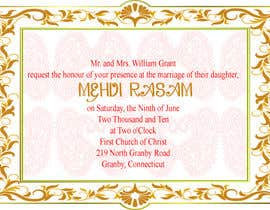 #12 for Design some Wedding and Mehndi Party Invitations for MUSLIM WEDDING af fameitc