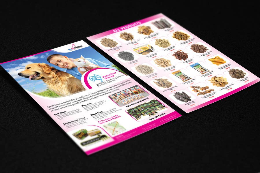 #11 for Design a Flyer for Healthy natural pet dog Treats by tahira11