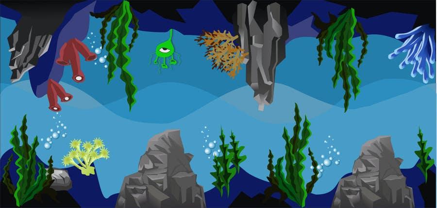 Kilpailutyö #17 kilpailussa 2D artwork (ROCKS & VEGETATION) for obstacles in side-scrolling video game.