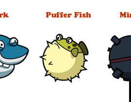 #2 para 2D artwork (FISH & Underwater Bombs) for obstacles in side-scrolling video game. por datpt1112