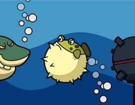 #3 para 2D artwork (FISH & Underwater Bombs) for obstacles in side-scrolling video game. por datpt1112