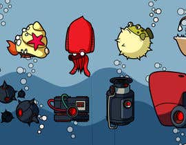 #9 para 2D artwork (FISH & Underwater Bombs) for obstacles in side-scrolling video game. por datpt1112