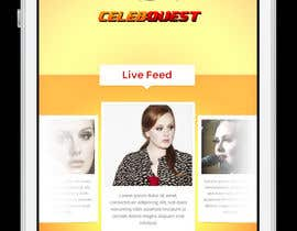 #5 para App Mockup for CelebQuest APP por rainbowfeats