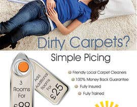 #37 para Design a Flyer for a carpet cleaning business. DOUBLE sided por IllusionG