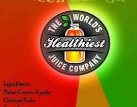 Nro 7 kilpailuun I need some Graphic Design for Green Juice Label käyttäjältä fatimayounus