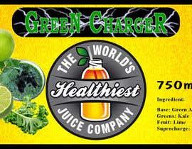 Nro 39 kilpailuun I need some Graphic Design for Green Juice Label käyttäjältä shyamalbhuli