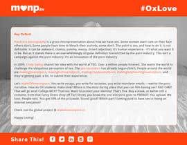 Nro 21 kilpailuun Design a Landing Page for MakeLoveNotPorn.tv ! käyttäjältä gmmfreelance