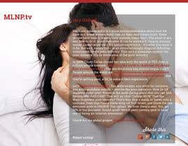 Nro 27 kilpailuun Design a Landing Page for MakeLoveNotPorn.tv ! käyttäjältä gitaadi
