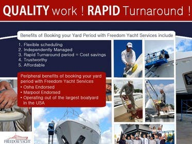 ozafebri tarafından Cutting Edge Yacht Service Company Needing a Newsletter featured Poster / Image için no 19