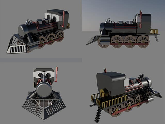#10 for 3D-model of a quirky locomotive by Osaper