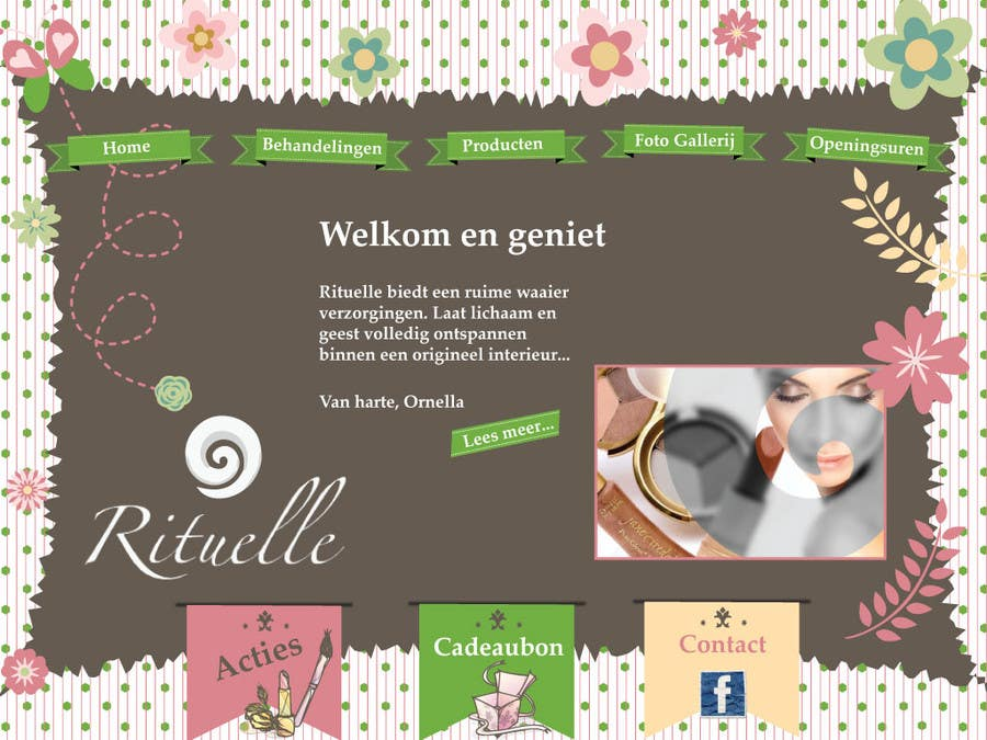 #26 for Design Vintage look for website Beauty Salon by boka011
