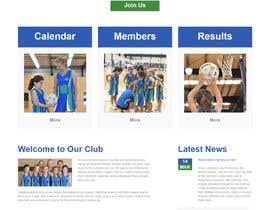swarajmgraphics tarafından Design website for a netball club için no 9