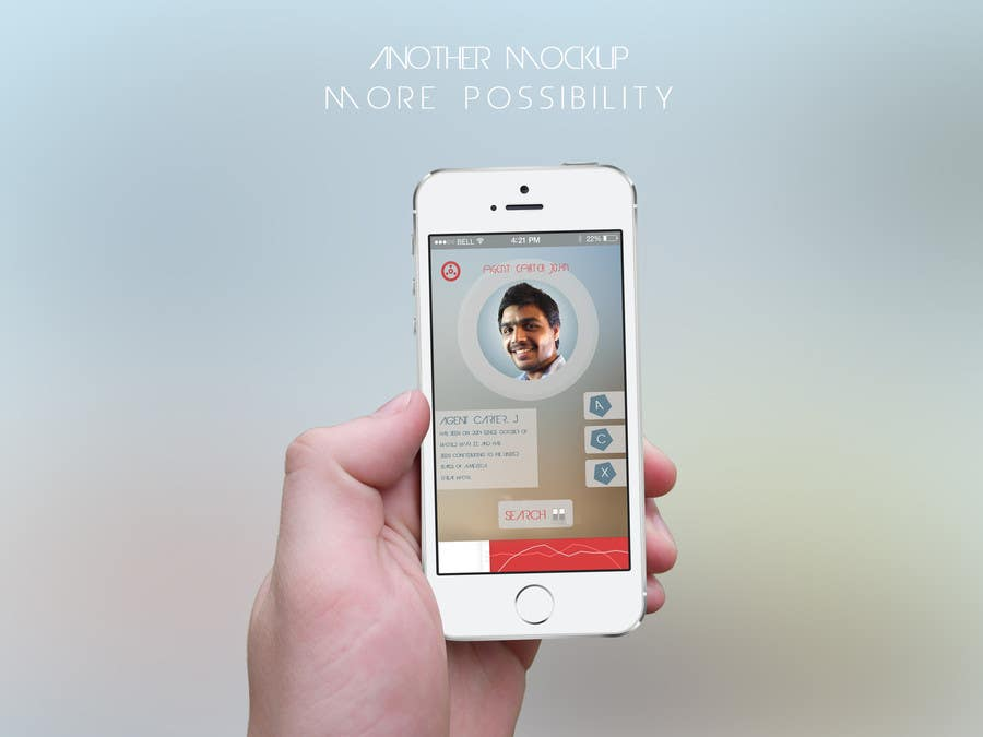 #16 for Design an App Mockup for a Futuristic Mission Impossible type interface by noniproduction