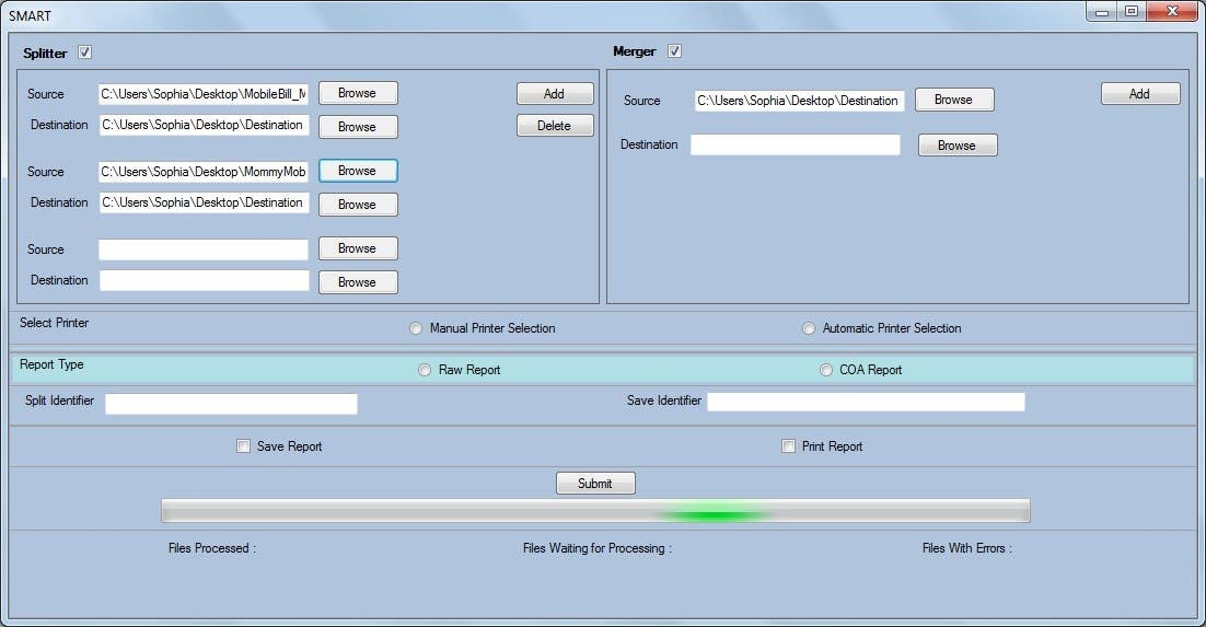 Entry #1 by raaz4job for PDF Batch Splitting and OCR using