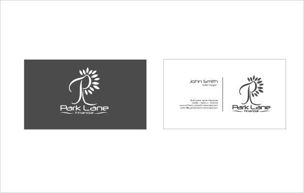 Inscrição nº                                         54                                      do Concurso para                                         Business Card Design for Park Lane Financial
