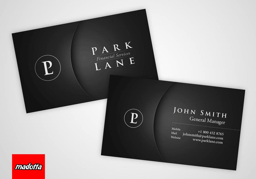 Contest Entry #10 for Business Card Design for Park Lane Financial