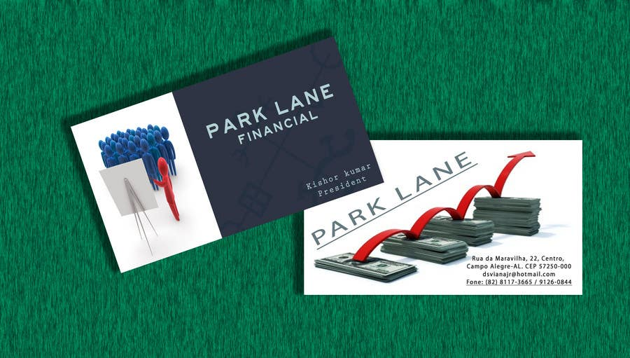 Konkurrenceindlæg #41 for Business Card Design for Park Lane Financial