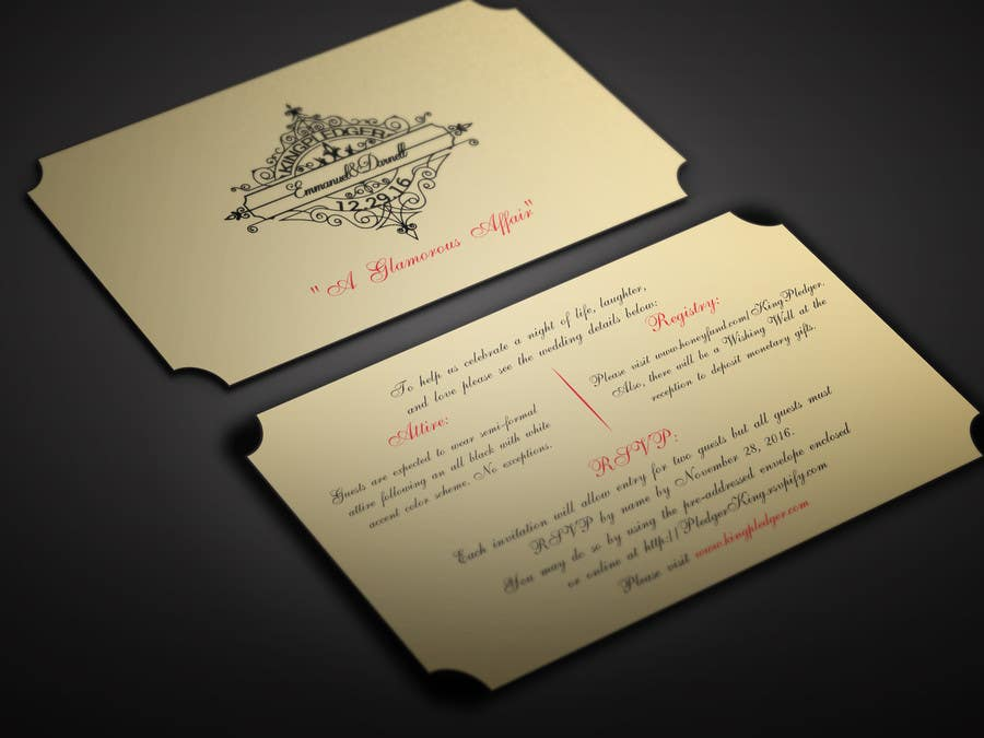 Entry 18 By BikashBapon For Golden Ticket Wedding Invitation