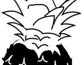 Harturo tarafından Illustrate a black and white pineapple için no 3