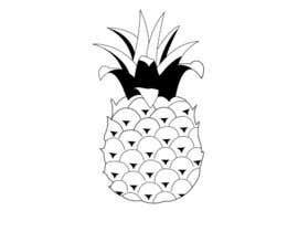dmitryshlyahov tarafından Illustrate a black and white pineapple için no 15