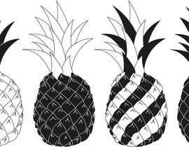 cupidus tarafından Illustrate a black and white pineapple için no 12