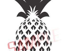 ShanthaPruthuvi tarafından Illustrate a black and white pineapple için no 5