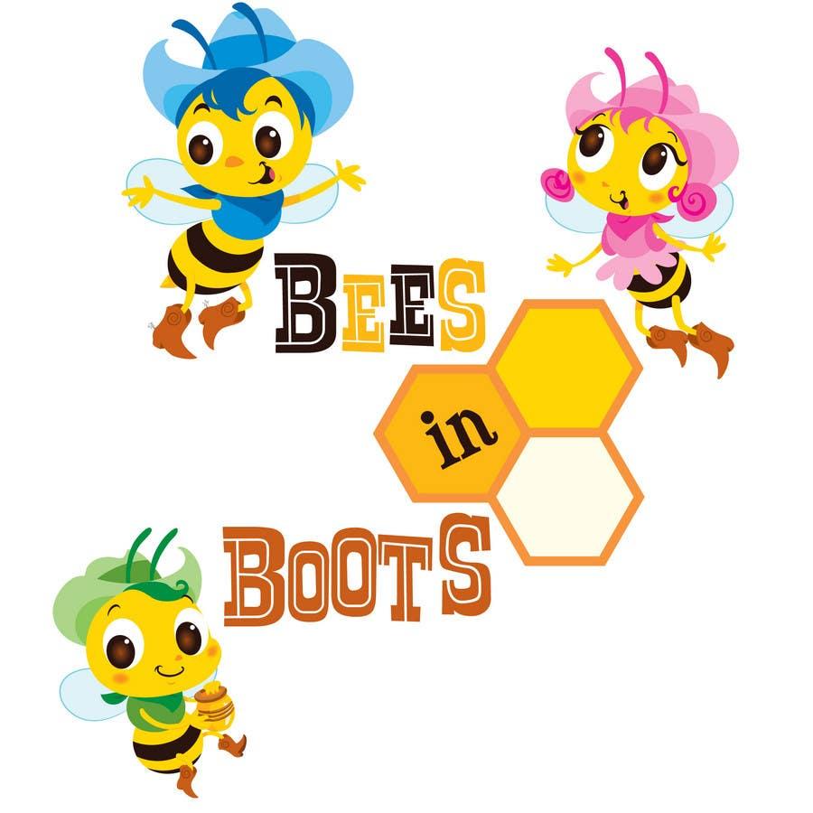 Inscrição nº                                         142                                      do Concurso para                                         Bees in Boots Logo Design
