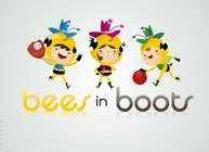Graphic Design Contest Entry #60 for Bees in Boots Logo Design