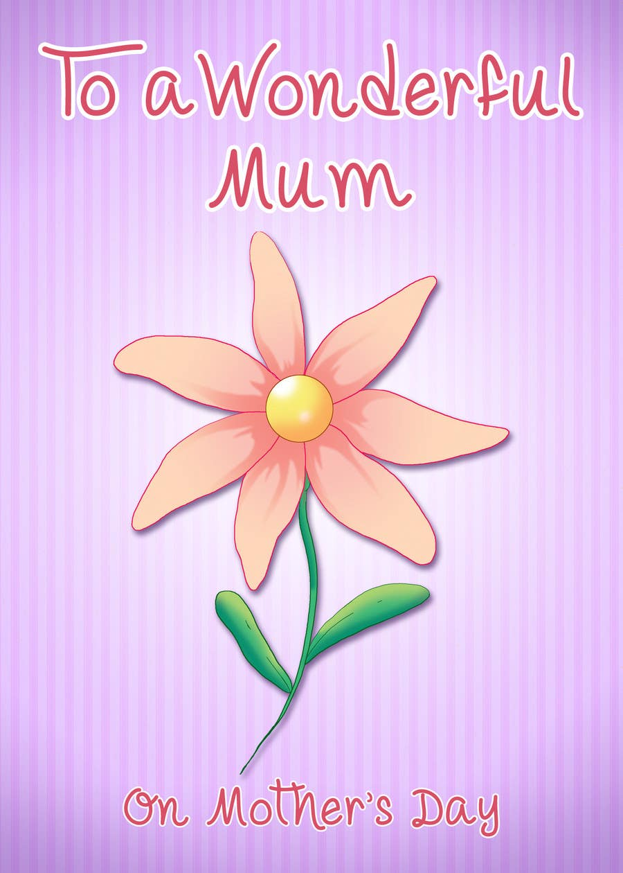 Entry 46 By Ryu23 For Design Some Stationery For Mothers Day
