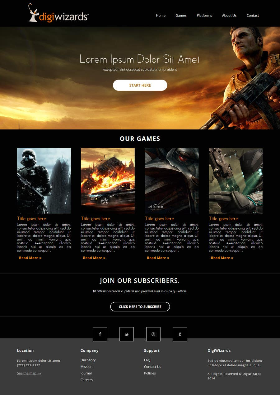 Entry #11 by NenadKaevik for Design a website for video game