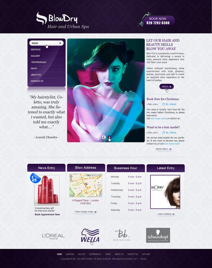 #36 for Design a Website Mockup for beauty site by online3