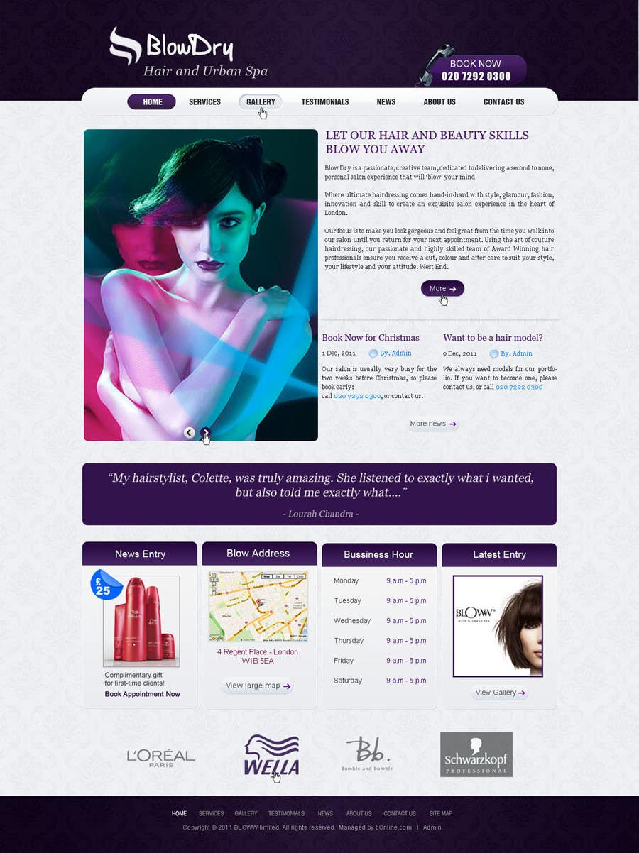 #53 for Design a Website Mockup for beauty site by online3
