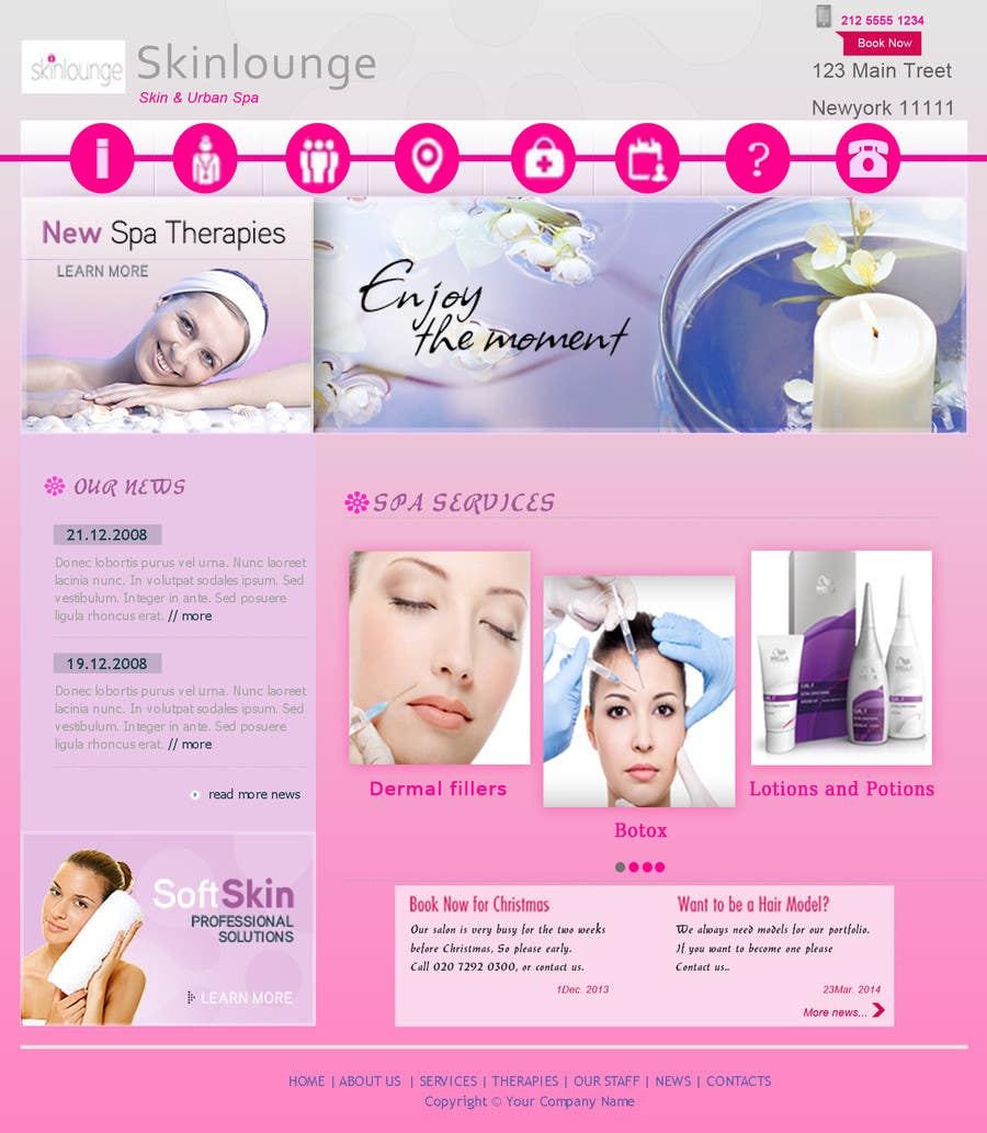 #7 for Design a Website Mockup for beauty spa site by sethusreeram