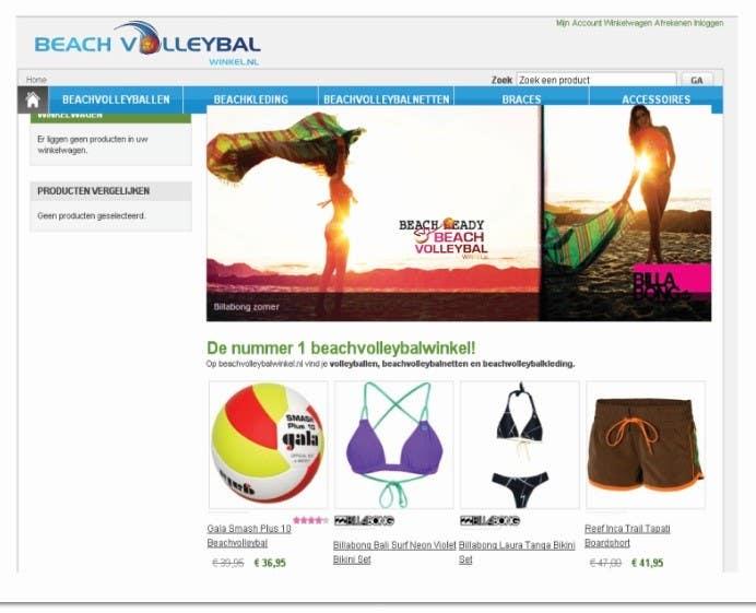 Inscrição nº 245 do Concurso para Logo Design for Beachvolleybalwinkel.nl