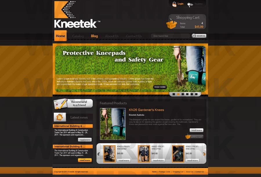 Proposition n°13 du concours Website Design for KNEETEK.NET